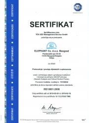 ISO 9001, HACPP